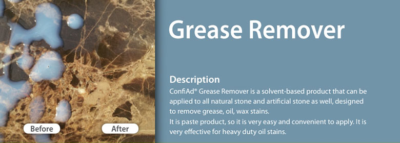 Grease Remover effectively removes grease and oil from most surfaces. Depending on the type and degree of soiling, use undiluted or 5 ~ 20% with water